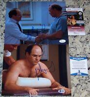 (2) Jason Alexander Jerry Seinfeld Show George Costanza Signed Photo JSA BAS COA