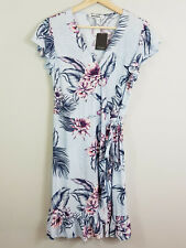 JUST JEANS | Womens Floral Print Wrap Dress NEW [ Size AU 10 or US 6 ]