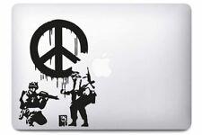 Sticker pour MacBook Pro Air - Peace Army - Noir ou Blanc - Fabriqué en France
