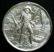 ELEMETAL 2 Oz .999 SILVER ROUND HIGH RELIEF RARE CAPTAIN PRIVATEER COIN PIRATE
