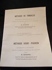 Partition Méthode Of Timpani/Thimbles M Dewinne Music Sheet
