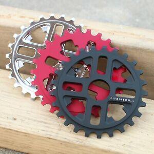 FIT BMX BIKE KEY BICYCLE SPROCKET 25T BLACK BLOOD RED BRUSHED POLISHED