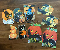 Vintage Die Cut Halloween Wall Hanging Beistle Hallmark USA Hong Kong Fun World