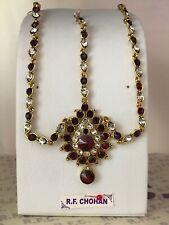 Gold maroon headpiece matha patti tika hijab boho grecian bridal hair chain prom