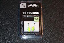 13 Fishing Doug Jig - Fire Tiger - Pack of 2 #10 1/16 oz Hook Ice Fishing Jig