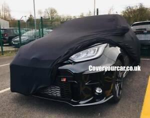 Toyota GR Yaris Indoor Soft Fleece Car Cover with Mirror Pockets - BLACK