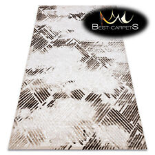 "SOFT AMAZING ACRYLIC RUGS ""DIZAYN"" 1047 Very Thick exclusive beige HIGH QUALITY"