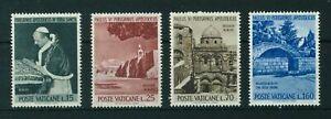 Vatican City 1964 Pope's Visit to the Holy Land MNH set Scott # 375-378