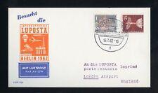 BERLIN Nr.140+147 LOCHUNG SONDERKARTE LUPOSTA BERLIN 16.7.1962 ! (951464)