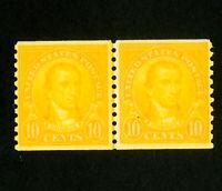 US Stamps # 603 VF OG NH Line Pair