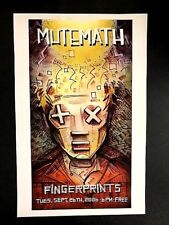 Mutemath - Live At Fingerprints 9/26/06 Concert Poster LTD. Original Press