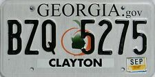 Georgia License Plate, TARGA ORIGINALE USA bzq 5275 immagine originale