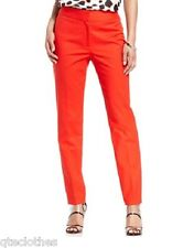 NINE WEST $79 NEW Red Contour Waistband Skinny Leg Ankle Pants 10 L28 QCO