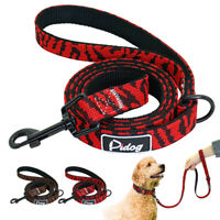 "3/4"" wide Knitted Dog Leash Soft Padded Doggie Walking Leads for Medium Big Dogs"