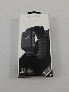 New Factory Sealed X-Doria Hybrid Apple Watch 42/44mm Leather Band - Black