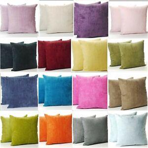 A Pair of Classic Plain Chenille Cushion Covers