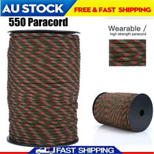 100m 550 Paracord Parachute Cord Rope Lanyard 9 Strand Core Survival Camo AU