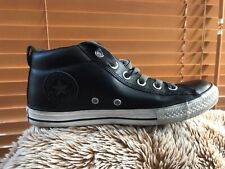 Unisex Black Leather All*Converse High Top used Size 4. 37 Clean Lace Ups 🌿
