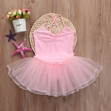 Toddler Girls Ballet Dress Tutu Leotard Dance Gymnastics Strap Clothes Outfits