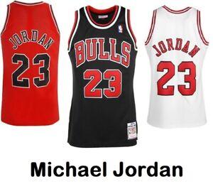 Michael Jordan #23 Chicago Bulls Basketball Jersey Shirt Red/Black/White S - XXL