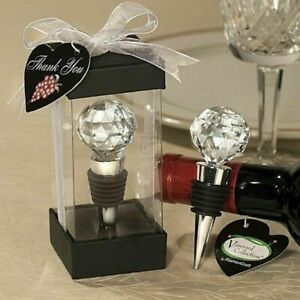 Bar Tools Wine Stoppers Round Crystal Glass Ball Vacuum Seal Wine Stopper Home W
