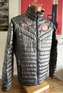 Nike 2014 Sochi USA Olympic Aeroloft Summit 800 Down Puffer Jacket Men's Size S