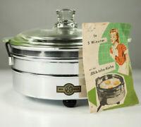 JEKA Infrarot Kochgerät Topf Jenaer Glas  NOS Neuwertig Infrarot 50er Vintage