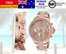 Michael Kors Ladies Wren Rose Gold Chrono Watch MK6096