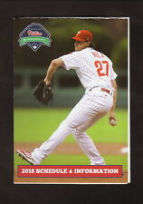 Aaron Nola--2018 Philadelphia Phillies Pocket Schedule--WB Mason
