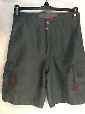 Boys Quicksilver Weather Proof Cargo Swim Trunks With Pockets and Belt Loops