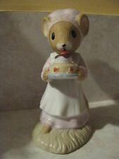 Vintage Mouse Figurine Enesco Calico Country Mice Days of Week Saturday 1982