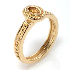 Citrine Gemstone Stackable Ring ~ Size 7