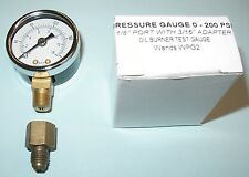 Oil Burner Fuel Pressure Test Gauge for Beckett, Suntec, Webster & Danfoss Pumps
