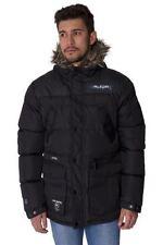 Button Hip Length Faux Fur Hooded Coats & Jackets for Men