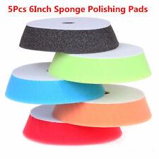 "Universal 5Pcs 6"" Sponge Polishing Waxing Buffing Pads Kit Set For Car Polisher"