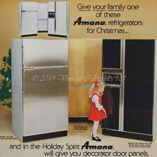 1978 Amana Refrigerator kitchen home appliance photo art decor vintage ad