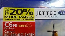 JET TEC BLACK 17 ml COMPATIBLE INKJET CARTRIDGE C6PB for CANON BCI-6BK/BCI-3ePBK