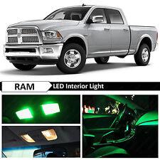 12x Green Interior LED Lights Package Kit for 2009-2015 Dodge RAM 1500
