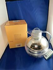 Alfi Round Vacuum Jug Carafe Clear Plastic Silver with Box and Tags