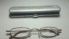 Classic Mini +2.75 Presbyopia Reading Glasses w/Slim Pocket Pen Clip Hard Case