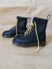 Dr Doc Martens 8 Eye Greasy Style Boots Made In England Black womens AUS size 5