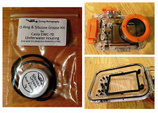 Spare O-ring & Silicone Grease Kit for Casio EWC-70 Diving Underwater Housing