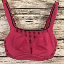 Soma Sport Bra 32D Max Support Underwire Pink Black NWT