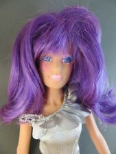 1980's Clash of the Misfits (Jem Holograms) Purple Hair Original Doll 4207 #131