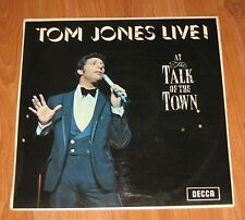 TOM JONES -  LIVE! AT THE TALK OF THE TOWN  VINYL LP  STEREO