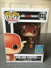 Funko Pop Sheldon Cooper The Flash 833 Big Bang Theory Shared Sticker SDCC 2019
