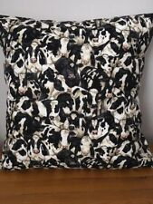 "Cows, Cows and More Cows! 16"" x 16"" Square Cushion Cover 100% Cotton"