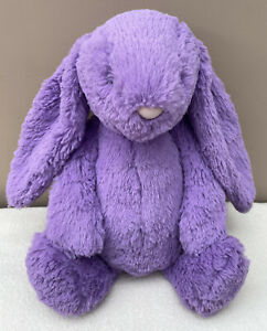 Jellycat Medium Iris Bashful Bunny Rabbit Baby Soft Toy Comforter Purple