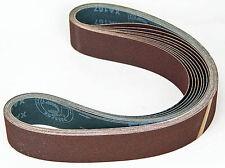 "Ten Sanding Belts 50x1220mm (2x48"")  80grit. Industrial cloth backed. ABRB248080"
