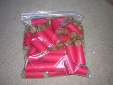 "KB5] 25 NEW 2-1/2"" x 1"" x 3/32"" FIREWORKS RED PYRO TUBES  INCLUDES PLUGS"